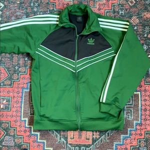 Adidas Men's 3 Stripes Hoodie Small Green Black